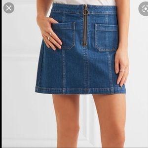 Madewell denim skirt zipfront w pockets size 28
